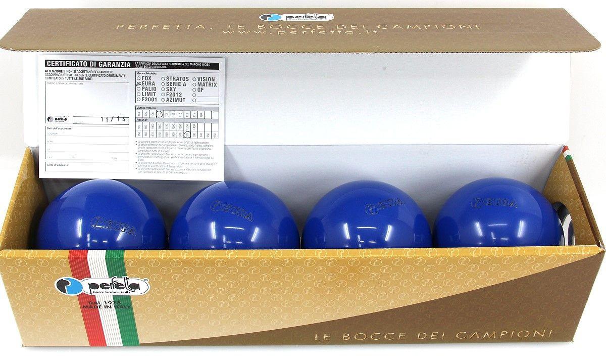perfetta eura blu wettkampf boccia kugeln 4er satz in blau ebay. Black Bedroom Furniture Sets. Home Design Ideas