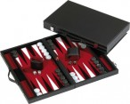 leatherette backgammon case RHODOS - red field