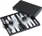 leatherette backgammon case RHODOS - gray field