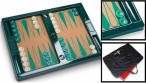 T-BOARD, brilliant english green Club Backgammon Board