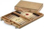 KRETA, Backgammon case, inlays beech / oak