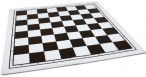 Chess board vinyl foldable, fieldsize 55mm brown white