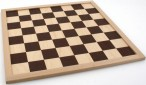 Chessboard FG 45mm / draughtboard, plywood brown nature
