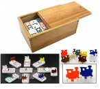 Ludomax Domino MEXICAN TRAIN, Double 12 in wooden box