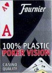 Naipes Fournier POKER VISON, Dual Index, 100% All Plastic - Casino Quality