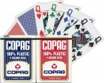 COPAG 100% Plastic Poker 4 Color Deck