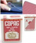 COPAG 100% Plastic Poker DUAL INDEX playing cards, rot
