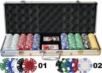 500 2-tone POKER CHIPS Set  inkl. Koffer Alu - Design