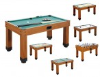 Multigame table 9 in 1 - play every game you like with telescope bars