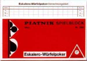 Eskalero WГјrfelpoker Verrechnungsblatt