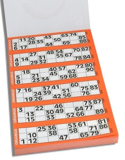 Bingo Lotto Tickets 1 90 Classic Games Tactic