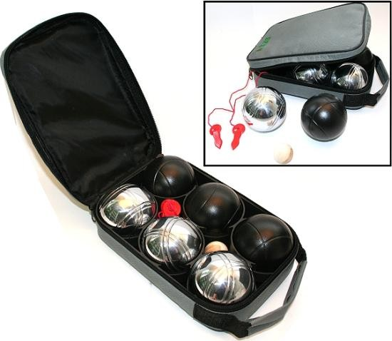 bouleset 6 boule kugeln in nylontasche ebay. Black Bedroom Furniture Sets. Home Design Ideas