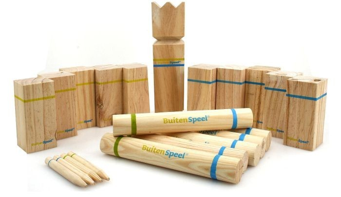 kubb schwedisches kult spiel aus pinienholz von buitenspeel ebay. Black Bedroom Furniture Sets. Home Design Ideas