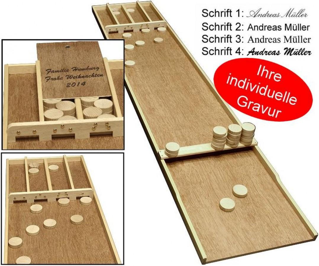 Sjoelbak familien das shuffleboard aus holland mit gravur for Dekoartikel aus holland