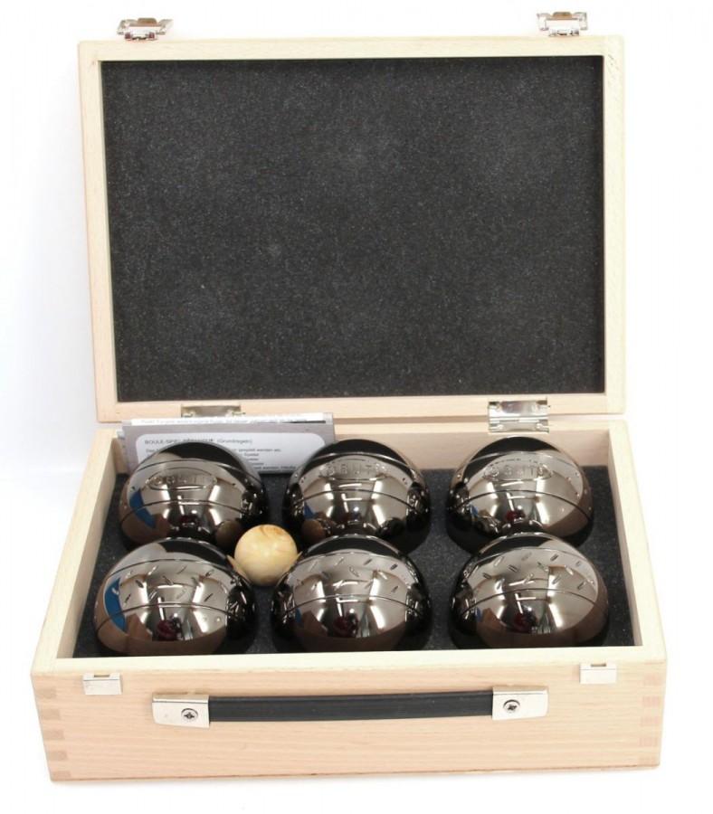 K6, 6er SET, Boule - Koffer, Qualitätsprodukt aus Frankreich Freizeitkugeln