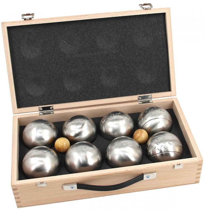 K8, 8er SET, Boule - Koffer, Qualitätsprodukt aus Frankreich Freizeitkugeln