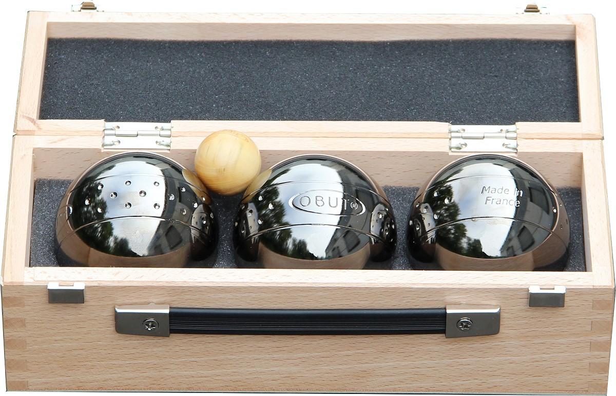 K3 Point Design, Boule - Kugel Set im Holzkoffer