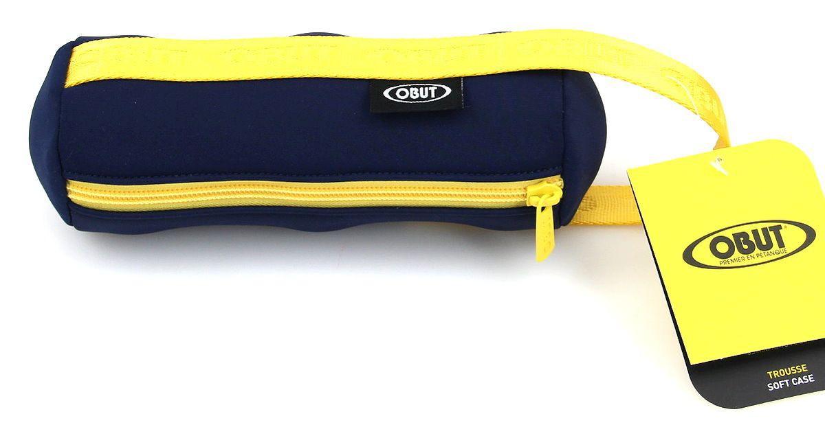 Stylische Soft - Bouletasche von Obut für 3 Boule Kugeln, blau