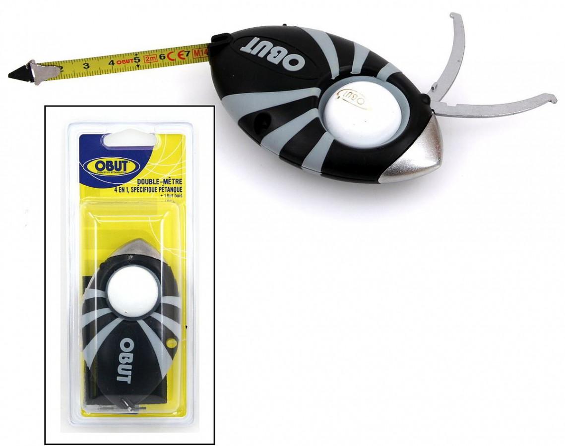 Boule Maßband 2m mit Zielkugelhalter und Zielkugel
