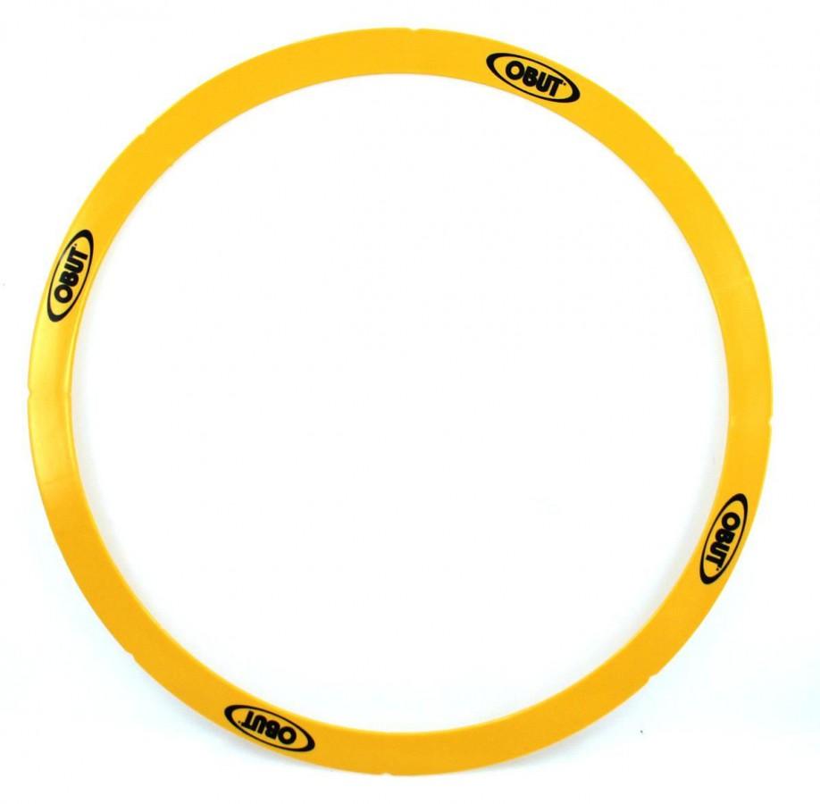 Rond de Pétanque 50cm gelb, starrer Boule Abwurfkreis