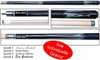Ludomax Pool Pro Model 01, billiard cue, with engraving