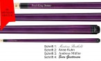 VA107 Purple StainPool Billard cue, Valhalla by Viking, with engraving