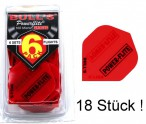 Bull's Power Flite 100 Micron X-strong Dart Flights, rot, 6 x 3 Set Großpackung