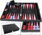 Premium Backgammon Medium Noir mit Filz - Spielfeld von Hector Saxe, Paris