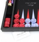 Premium Backgammon Medium Noir mit Filz - Spielfeld von Hector Saxe, Paris Bild 2