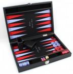 Premium Backgammon Medium Noir mit Filz - Spielfeld von Hector Saxe, Paris Bild 3