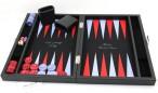 Premium Backgammon Medium Noir mit Filz - Spielfeld von Hector Saxe, Paris Bild 4