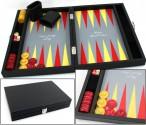 Premium Backgammon Medium Gris mit Filz - Spielfeld von Hector Saxe, Paris