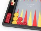 Premium Backgammon Medium Gris mit Filz - Spielfeld von Hector Saxe, Paris Bild 2