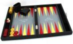 Premium Backgammon Medium Gris mit Filz - Spielfeld von Hector Saxe, Paris Bild 5