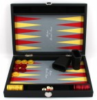 Premium Backgammon Medium Gris von Hector Saxe, Paris mit Gravur, Geschenk Idee Bild 3