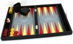 Premium Backgammon Medium Gris von Hector Saxe, Paris mit Gravur, Geschenk Idee Bild 5