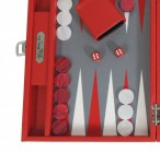 Backgammon BUFFALO B20L Rouge Medium, Alcantara playground, Hector Saxe, Paris