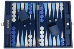 Backgammon BUFFALO B20L Nuit Medium, Alcantara Spielfeld, Hector Saxe, Paris