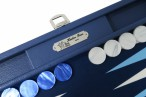 Backgammon BUFFALO B20L Nuit Medium, Alcantara Spielfeld, Hector Saxe, Paris Bild 2
