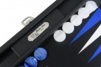 Backgammon BUFFALO B20L Anthracite Medium, Alcantara, Hector Saxe, Paris Bild 2