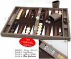 Backgammon BUFFALO B20L Terre Medium Hector Saxe Paris mit Gravur, Geschenk Idee