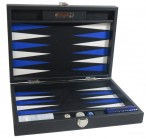 Backgammon BUFFALO B20L Anthracite Medium Alcantara Hector Saxe incl. Engraving