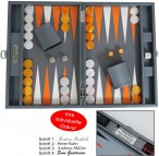 Backgammon CARBONE B21L Medium Hector Saxe Paris mit Gravur, Geschenk Idee