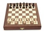 Schach - Backgammon - Dame 10x10 Spiele - Kassette mit Intarsien Bild 2