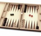 Schach - Backgammon - Dame 10x10 Spiele - Kassette mit Intarsien Bild 4