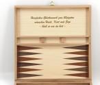 Schach - Backgammon - Dame 10x10 Kassette mit Intarsien mit Gravur, Top Geschenk Bild 2