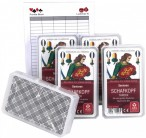5 pieces of SENIOR SHEEP´S HEAD TAROC bavarian 36 cards + Ludomax writing pad