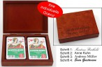 Playing cards wooden box Doppelkopf, with print, nice gift idea