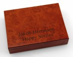Playing cards wooden box Skat - Doppelkopf, with print, nice gift idea Image 2