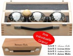 OBUT K3 Strip, Boules Set, in wooden box with engraving, idea for Present